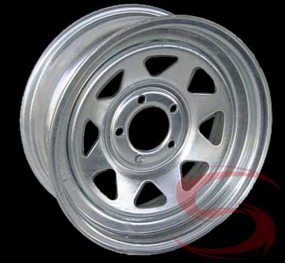 15 x 6 Hotdipped Galvanized Spoke Trailer Rim 5x4.50 Lug 2,150 lb max ...