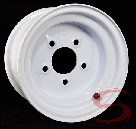 10x6 White Painted Trailer Rim, 5 on 5.50 Lug, 1800 lb Max Load